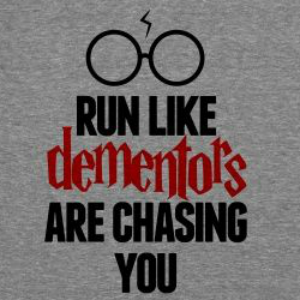 dementors chasing you race t-shirt