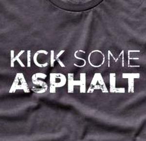kick some asphalt race shirt