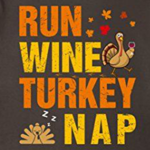 run wine turkey nap shirt