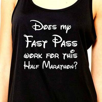 fast pass funny half marathon